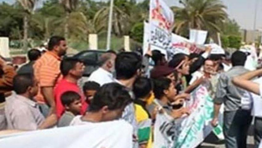 تظاهرات حاشدة أمام مدينة الإنتاج الإعلامي