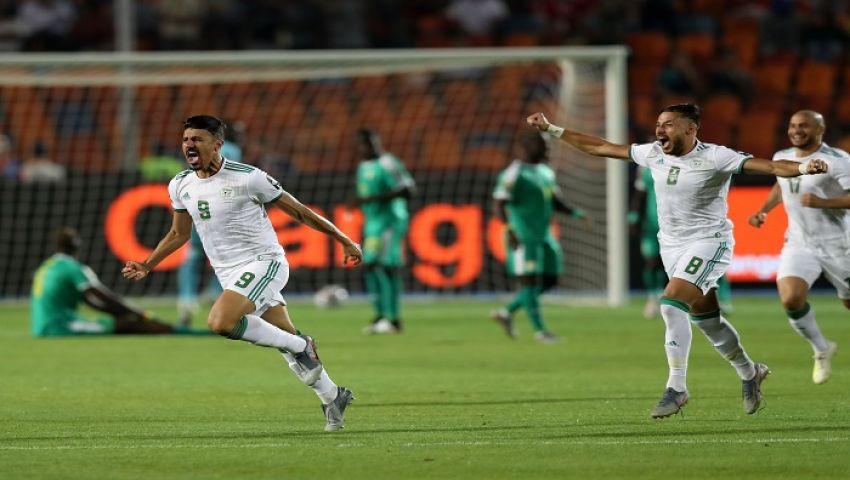 فيديو| هدف بونجاح يقود الجزائر للتربع على عرش أفريقيا
