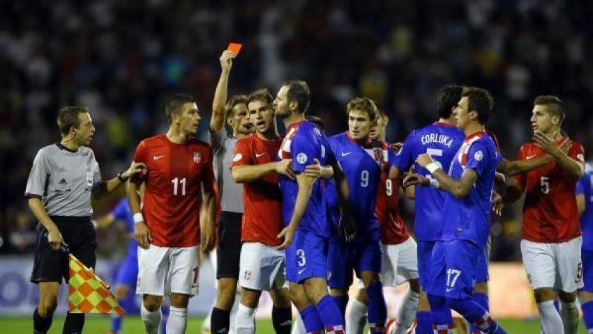 صربيا تتعادل مع كرواتيا