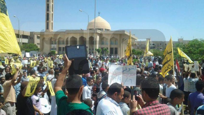 مسيرة بالسادات لمرسي.. وأخرى بأشمون للسيسي