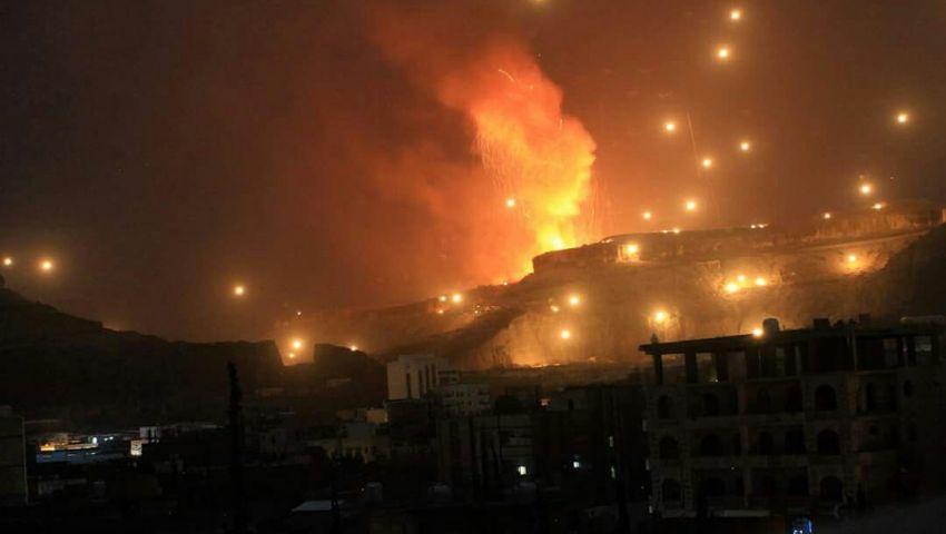 بالصور.. لهيب عاصفة الحزم يُشعل صنعاء