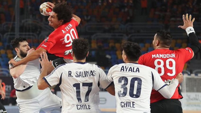 بحضور السيسي.. مصر تكتسح تشيلي في افتتاح مونديال اليد