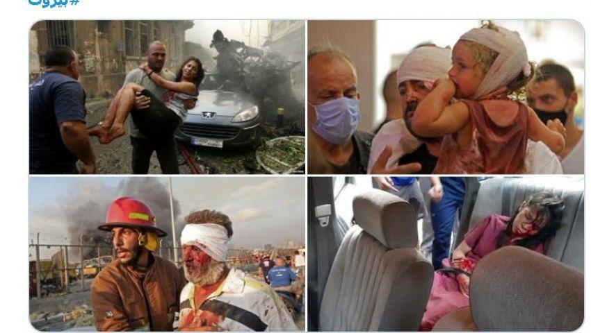 «محروق قلبي من جوا».. ماذا قال النجوم عن انفجار بيروت؟