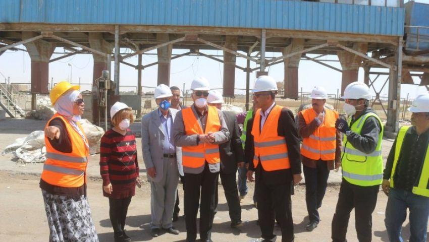 محافظ السويس: إنشاء خط جديد بمصنع تدوير القمامة