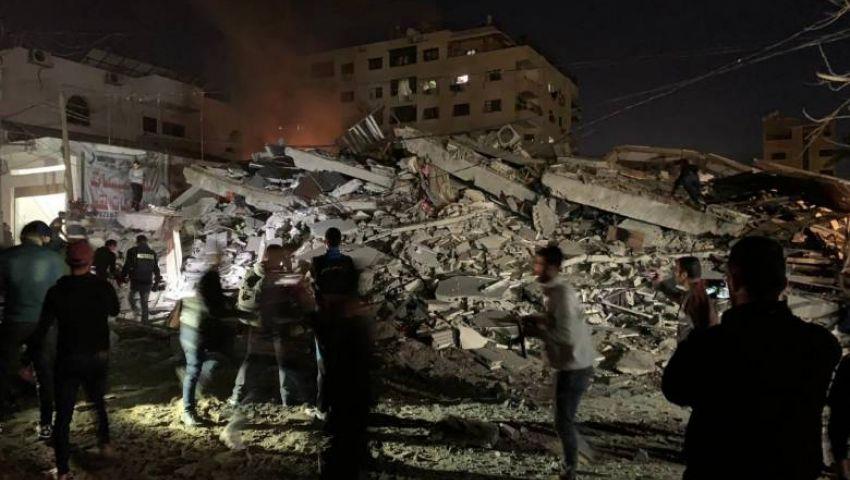 بقصف مركز توثيق.. الاحتلال يستهدف الشعب الفلسطيني وذاكرته