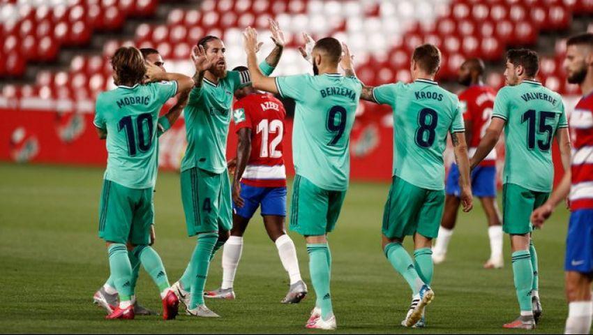 ريال مدريد على بعد خطوة من اللقب بفوز ثمين على غرناطة
