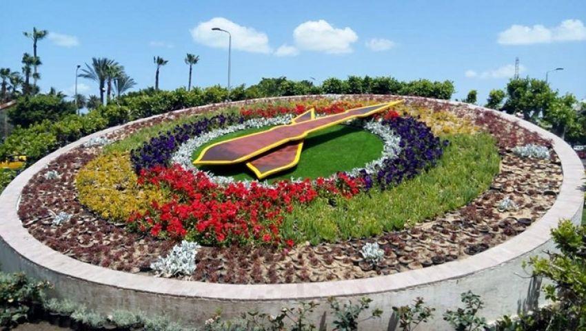 شاهد الشكل النهائي لساعة الزهور التاريخية بالإسكندرية (صورة)
