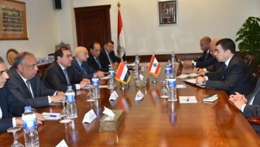 الملا يبحث دعم علاقات التعاون فى مجال البترول والغاز مع لبنان