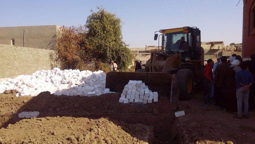 إزالة 193 حالة تعدٍ على الأراضي الزراعية وأملاك الدولة بالمنيا