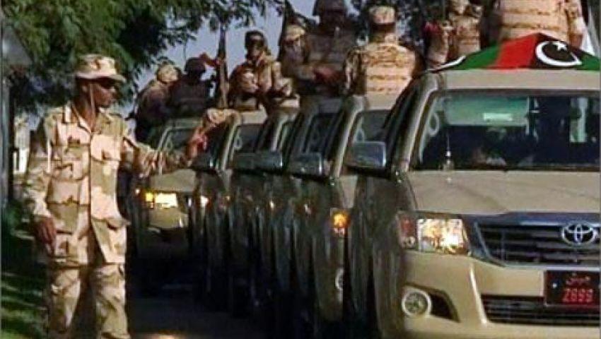 الجيش الليبي يفصل بين منطقتين متنازعتين