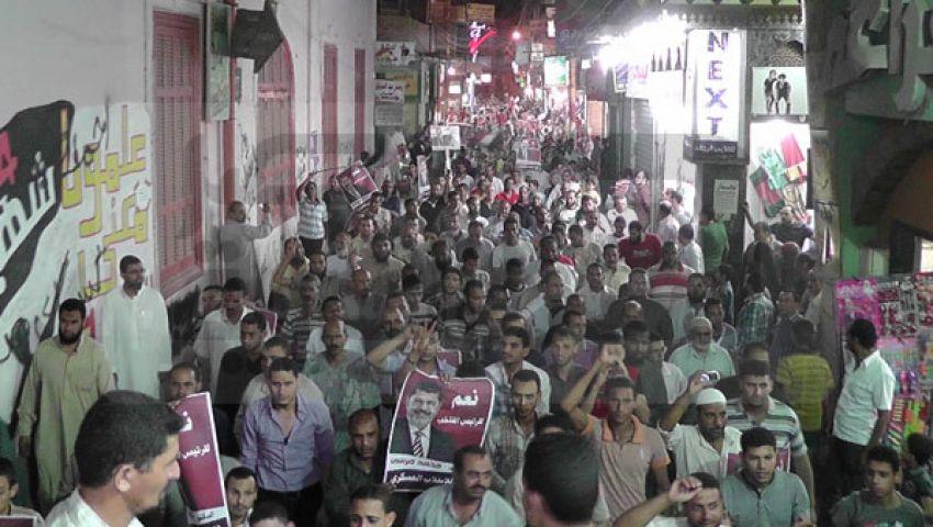 مسيرة صمود ضد الانقلاب تجوب شوارع الفيوم