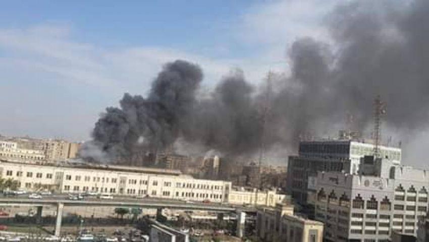صور| حريق هائل بمحطة مصر يسفر عن سقوط العديد من الضحايا