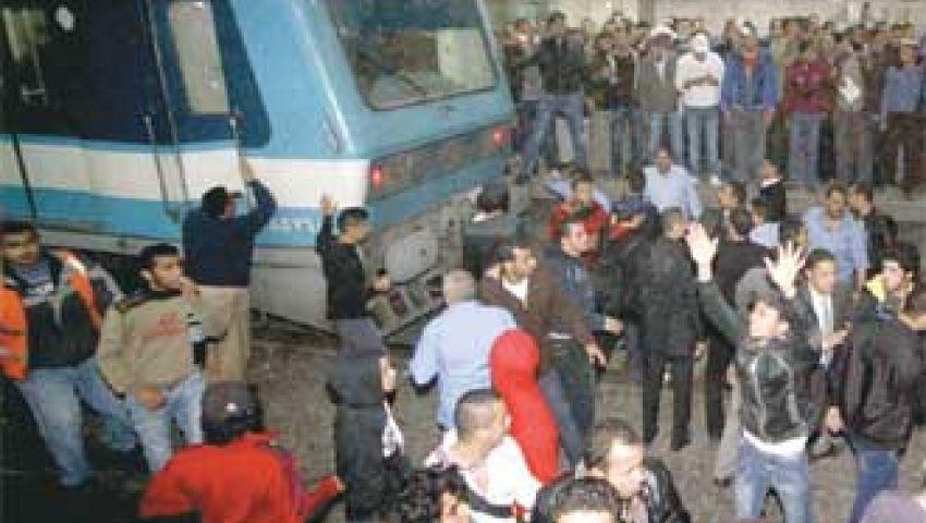 شلل جزئي بحركة المترو بسبب تظاهرات أمن المحطات
