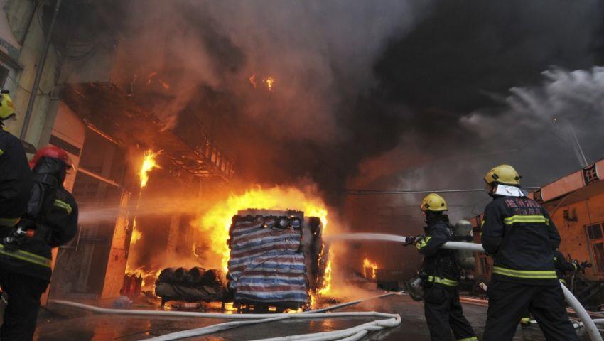 السيطرة علي حريق هائل بأرض شركة بترول بالفيوم