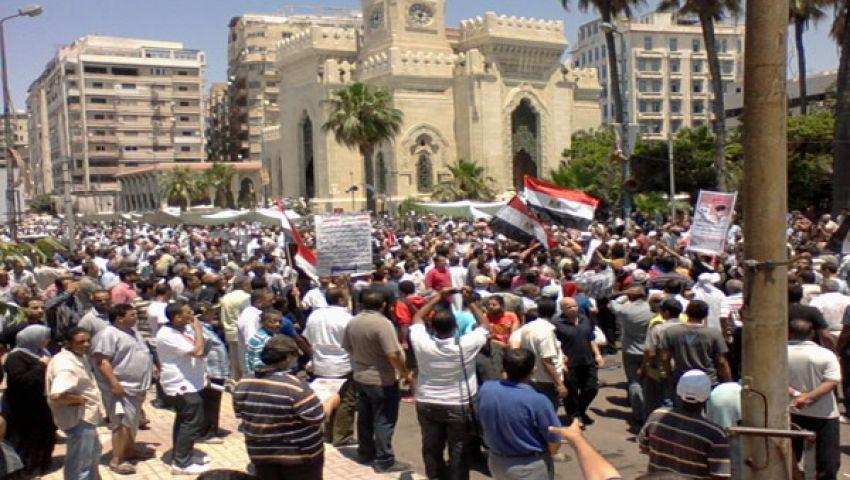 مناوشات بين مؤيدي ومعارضي مرسي