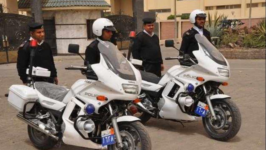 سرقة دراجة نارية تابعة للشرطة بالقليوبية