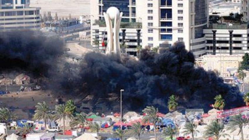 قذيفة الغاز بدلاً من اللؤلوة بأشهر ميادين البحرين
