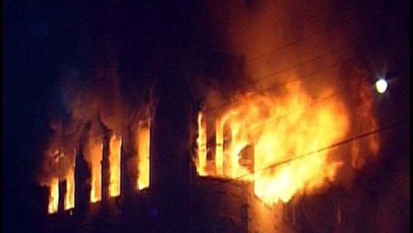 العناية الإلهية تنقذ ميدان حارث ببني سويف من حريق