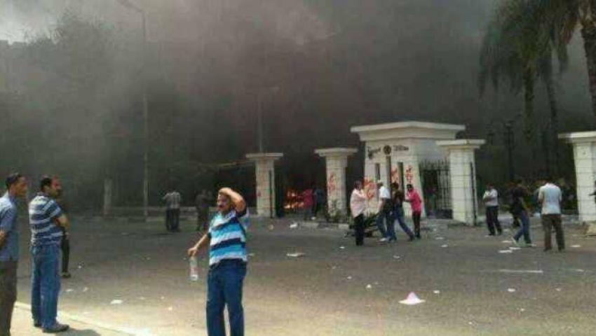 حبس 6 متهمين بإشعال النيران في مبنى محافظة الجيزة