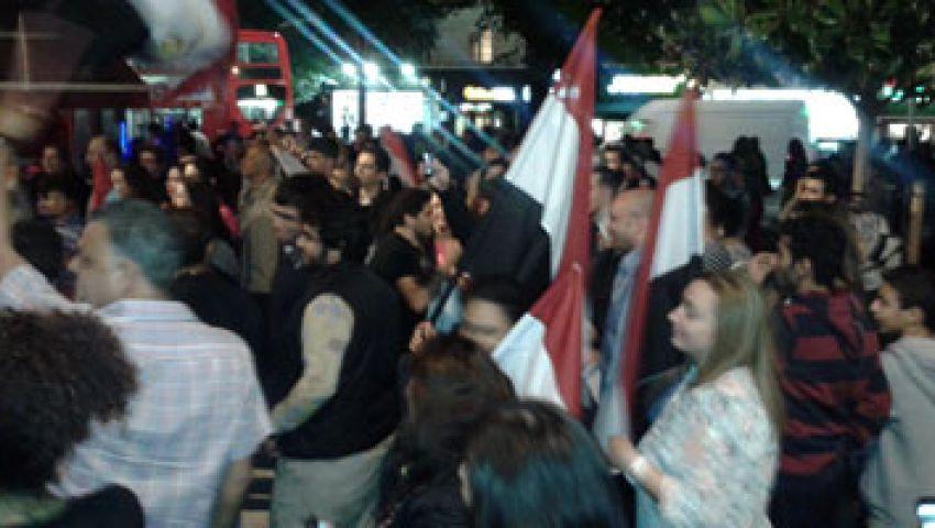 مصريون يتظاهرون بلندن احتجاجًا على تغطية bbc