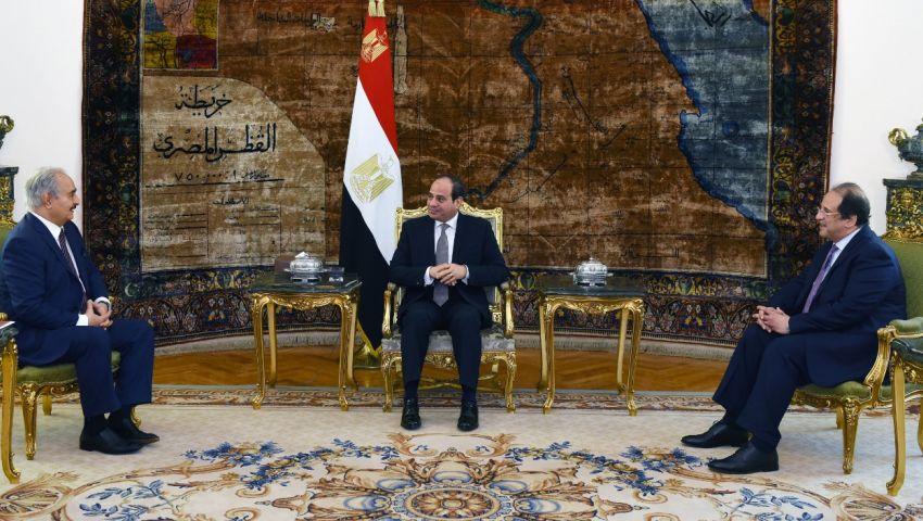 بالصور|تفاصيل لقاء السيسي وحفتر بالقاهرة