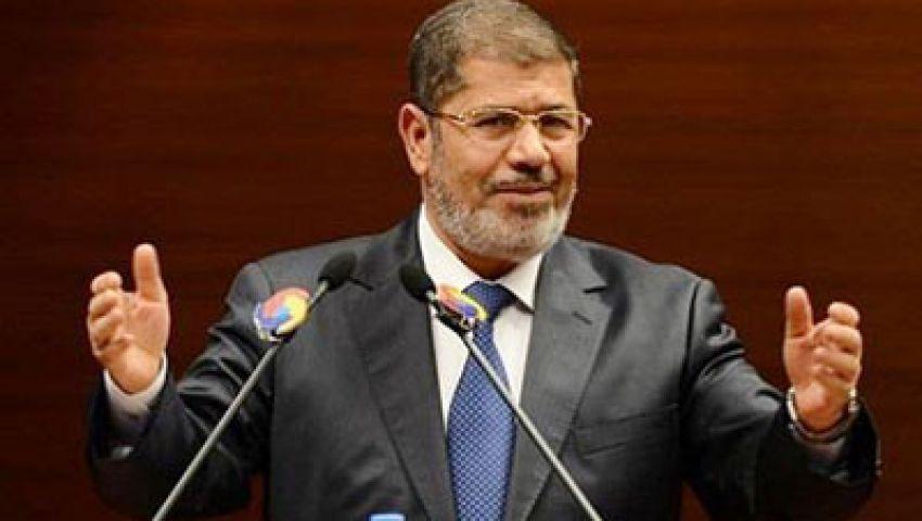 مرسي : الباب مفتوح للحوار مع كافة القوي السياسية