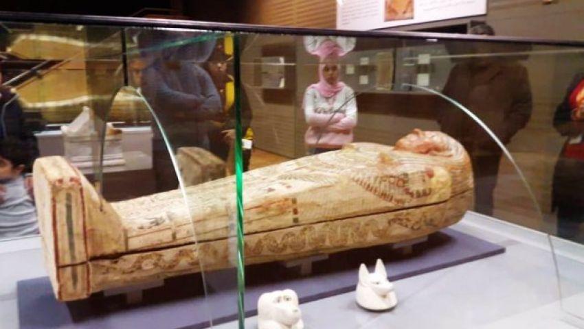 مجسمات للمكفوفين بمتحف الآثار في الإسكندرية
