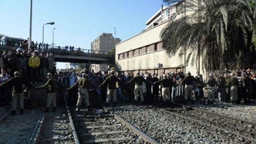 قطع السكك الحديدية وإغلاق المصالح الحكومية بالمنوفية