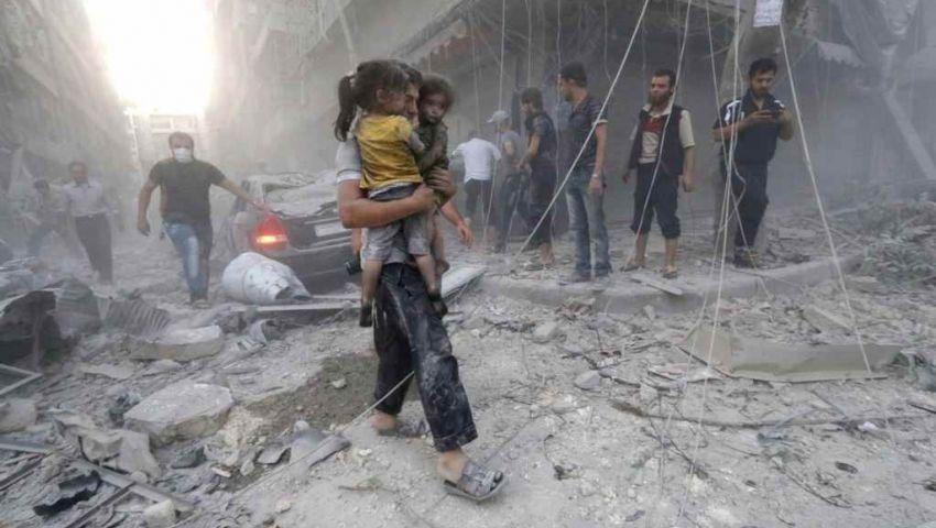 المرصد السوري: مقتل 4 آلاف مدني بالغارات الروسية خلال عام