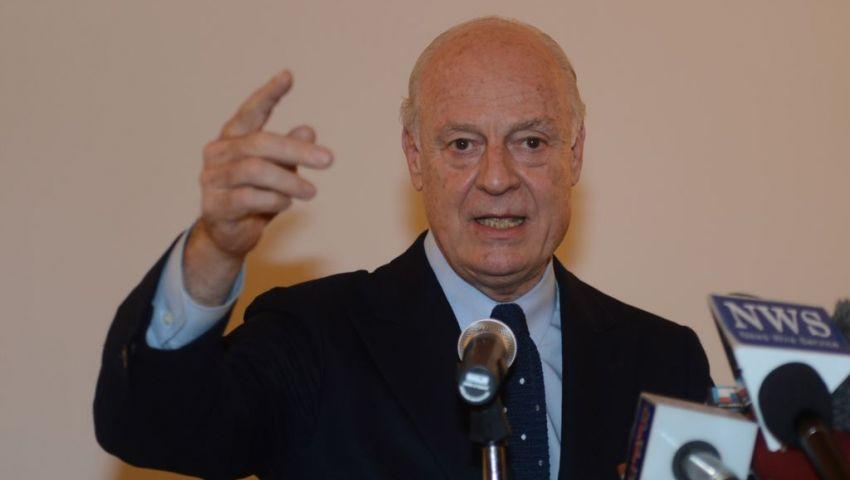 دي مستورا يصل القاهرة لبحث الأزمة السورية