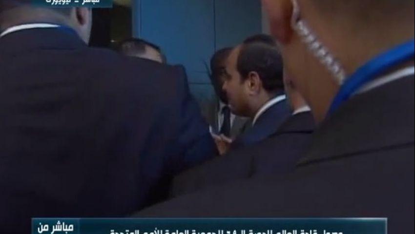 بالفيديو.. لحظة وصول السيسي لمقر الأمم المتحدة