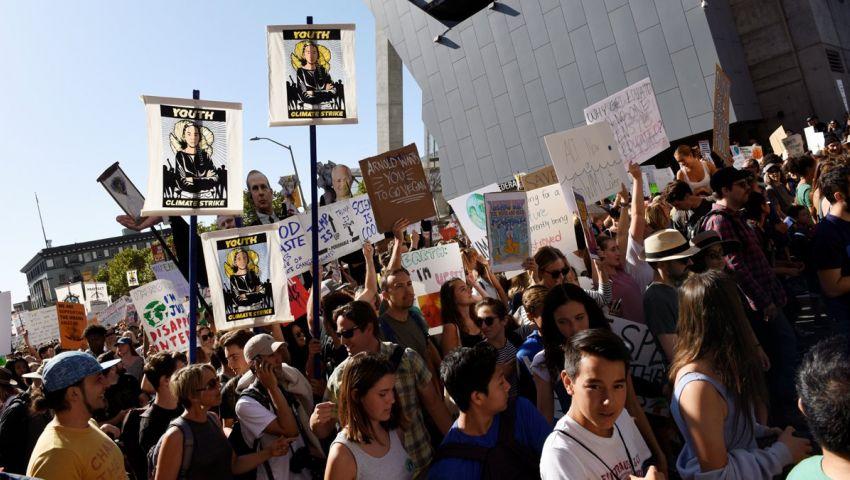 الآلاف يحتجون في واشنطن من أجل التغيّر المناخي