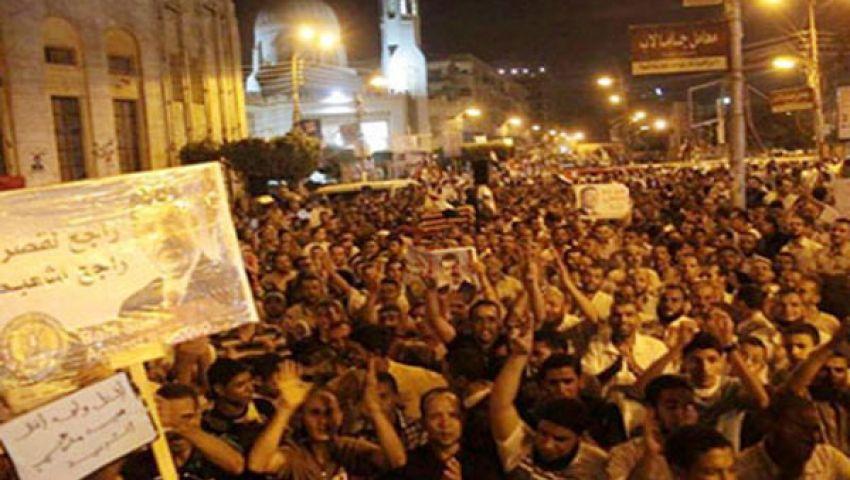 مسيرات ليلية ببني سويف للمطالبة بعودة الشرعية