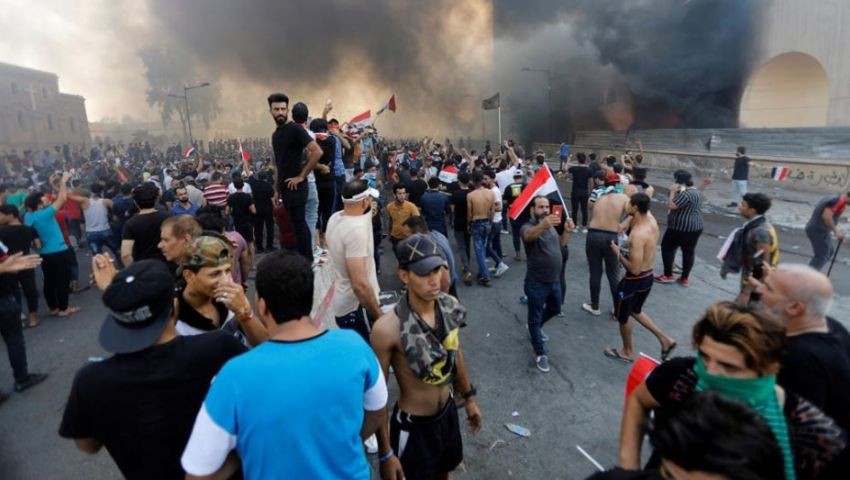 تجدد التظاهرات في ضواحي العاصمة العراقية