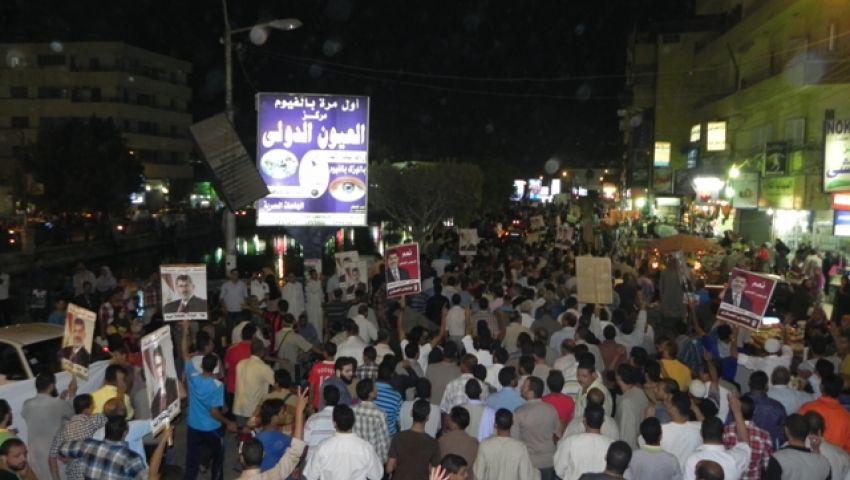 بالفيديو..الفيوم تخترق حظر التجوال بمسيرات رافضة للإنقلاب