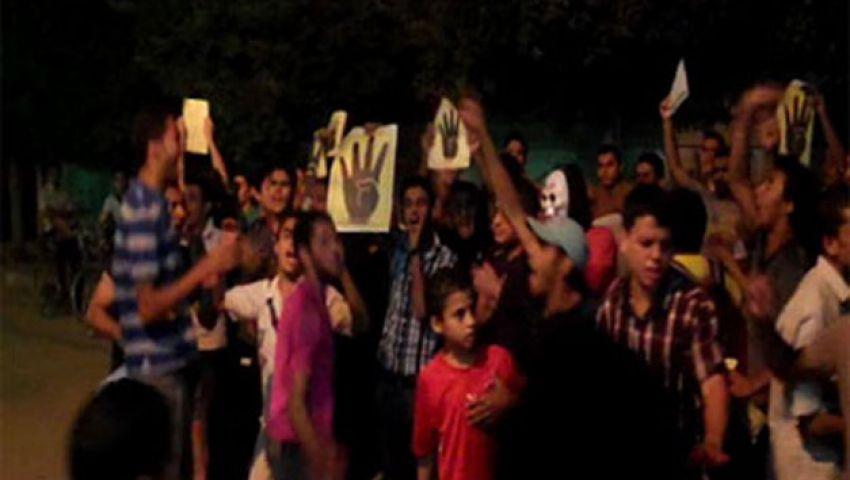 فيديو.. شباب ضد الانقلاب تتظاهر بالمنوفية في ذكرى الفض