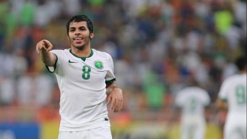 يحيى الشهري أفضل لاعب في مباراة السعودية والعراق