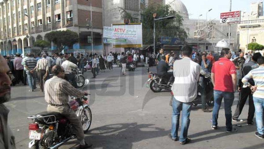 بورسعيد.. شباب التجار يتظاهرون ضد تهريب البضائع
