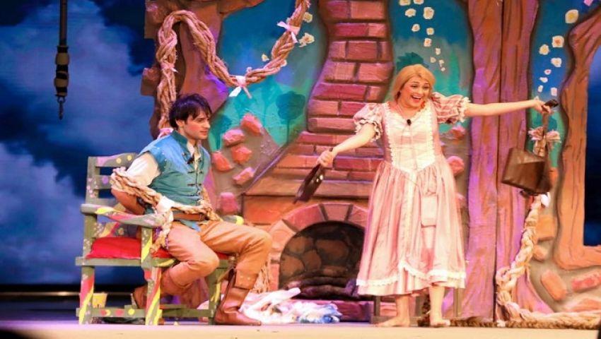 بالصور|مروة عبد المنعم تخطف قلوب الأطفال بمسرحية رابونزل