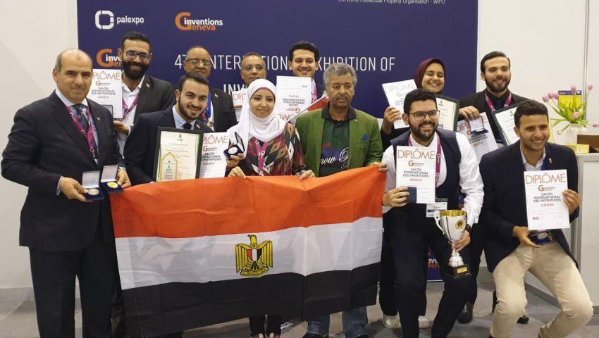 الفريق المصري يحصد الذهب والفضة..في معرض جنيف الدولي للاختراعات 2019