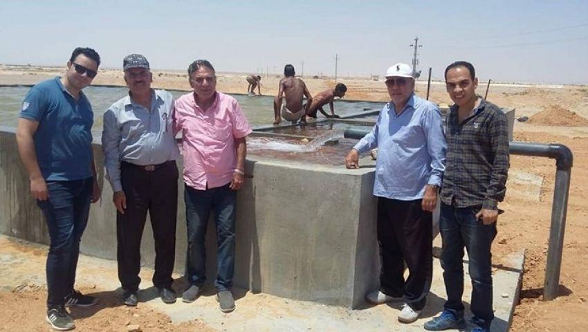 صور| إنشاء 4  آبار مياه جوفية جديدة بمنطقة وسط سيناء
