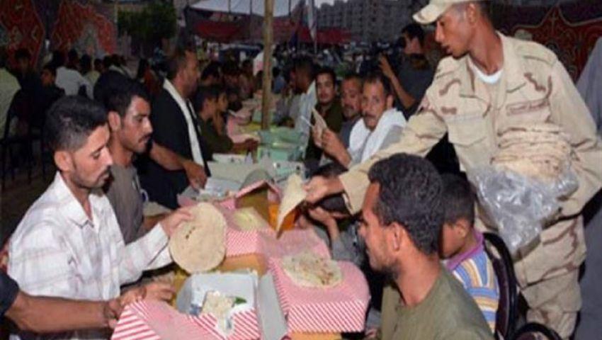 في رمضان.. القوات المسلحة تقيم 135 مائدة إفطار بالمحافظات
