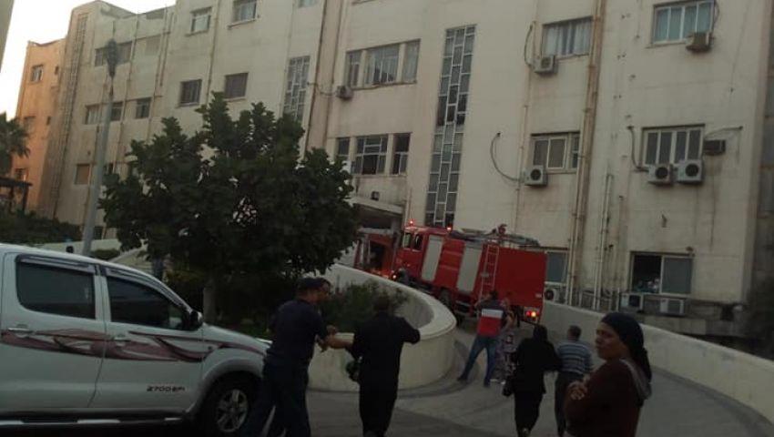بالصور| حريق داخلمستشفى الشاطبى بالإسكندريةللولادة