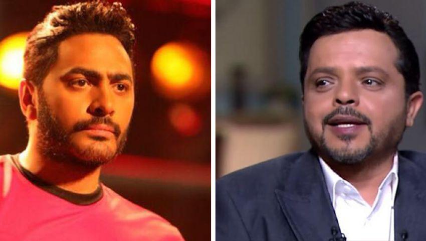 تامر حسني يعتذر لجمهوره بسبب كليب «ناسيني ليه».. وهنيدي يمازحه
