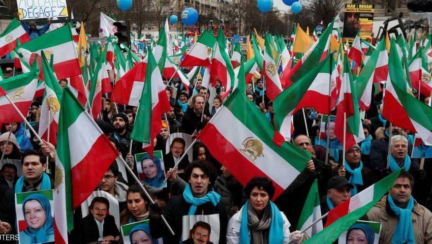 في باريس.. مسيرات إيرانية تدعو لتغيير النظام
