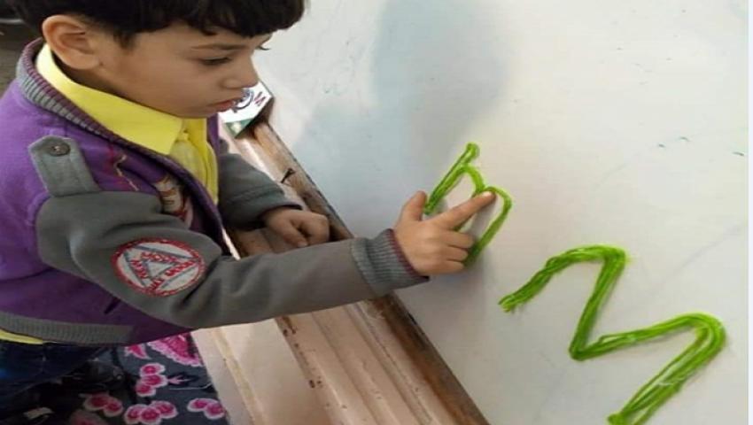 صور| بالرسم على الحوائط.. هكذا استعدت مدارس شمال سيناء للعام الدراسي