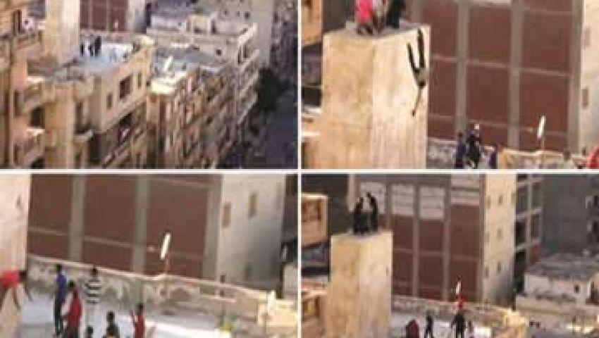 شريط إلقاء صبية من فوق عمارة الإسكندرية مزيف