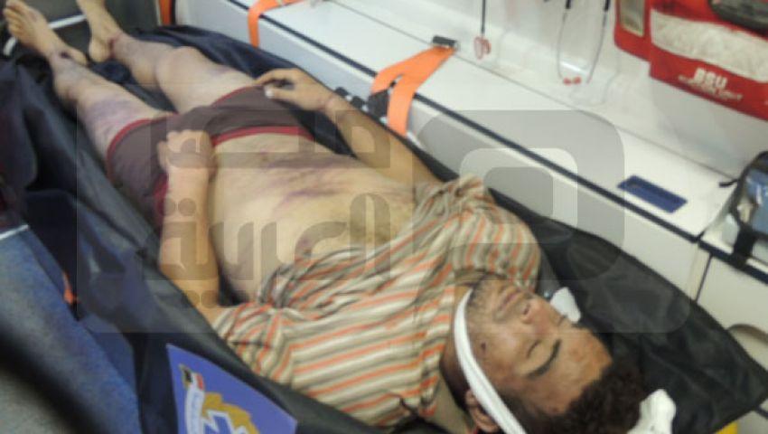 بالصور.. سيارة تلقي جثة مجهولة قرب معتصمي رابعة