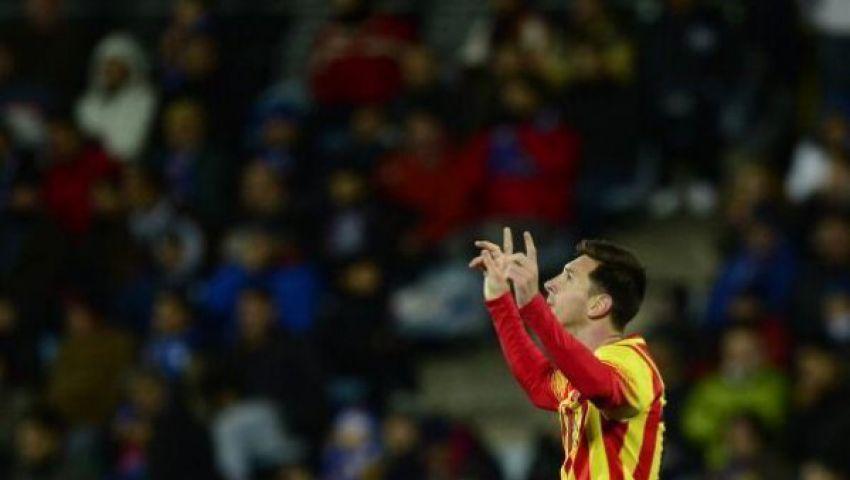 ميسي يصعد بـبرشلونة إلي ربع نهائي كأس الملك