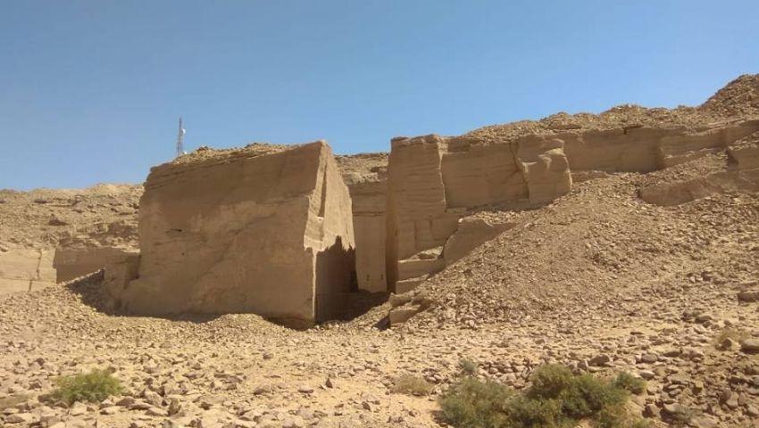 صور.. اكتشاف ميناء لنقل الأحجار من محاجر جبل السلسلة بأسوان
